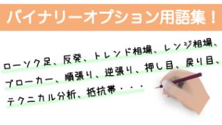 初心者さんが知って得するバイナリーオプション用語集^^!